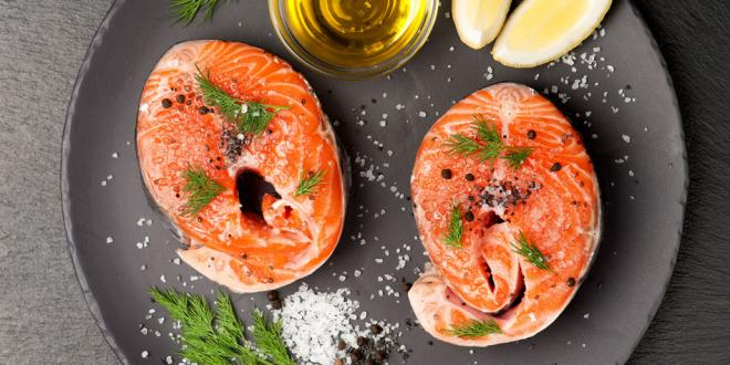 sustainable salmon steaks