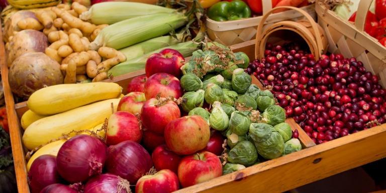 Fall harvest vegetables